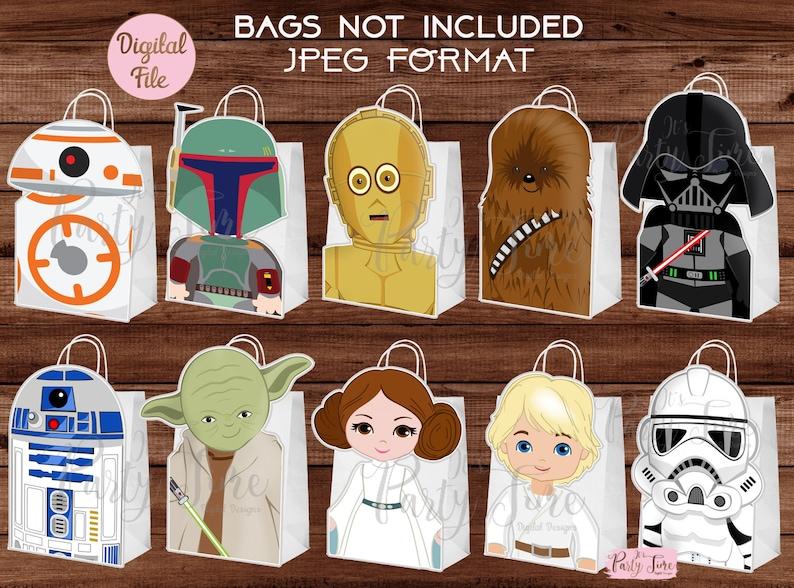Favor Bag Star Wars Favor Bag Star Wars Party Favor Bag Star Wars Treat Bags You Print DIGITAL FILE