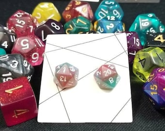 1 of 2 - Miniature d20 Stud Earrings: Limited Edition