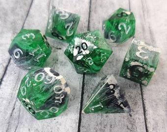 Mirkwood: 7-Piece Handmade Polyhedral Dice Set