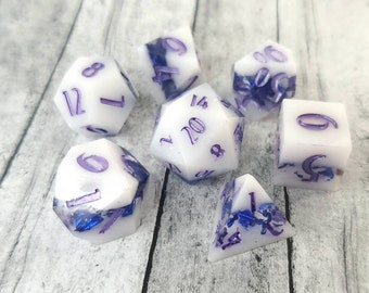 The Gliding: 7-Piece Handmade Polyhedral Dice Set