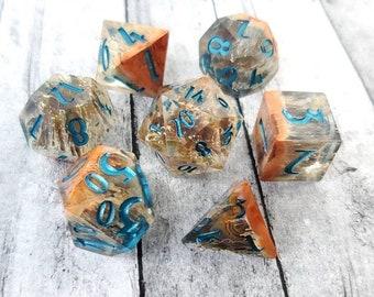 Turkish Delight: 7-Piece Handmade Polyhedral Dice Set