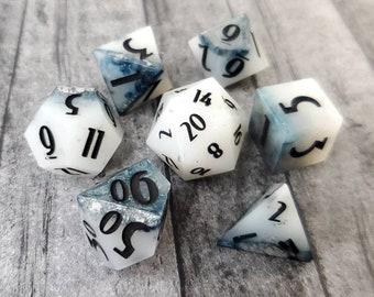 Soft Surrender: 7-Piece Handmade Polyhedral Dice Set