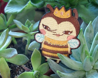 Queen Bee Sticker Embroidered Patch