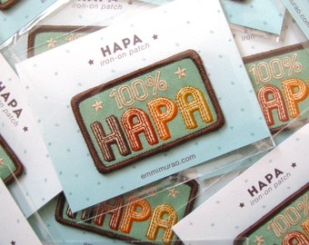 Hapa Iron-On Embroidered Patch