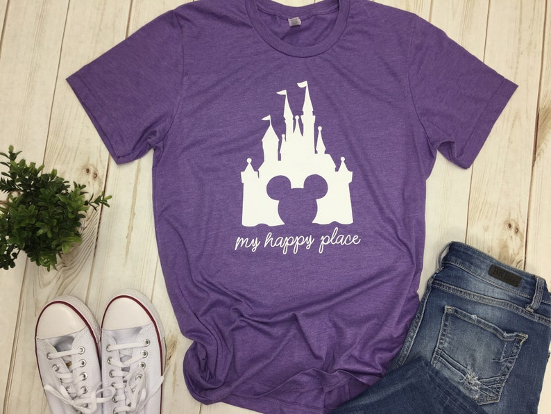 cbc4a264 Disney Castle shirt matching family My Happy Place tee t-shirt | Etsy