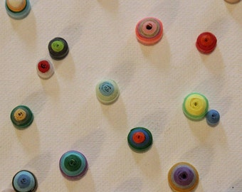 Multi-colored Polka-Dot Quilling