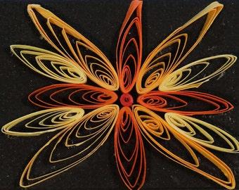 Orange and Yellow Mandala Quilling