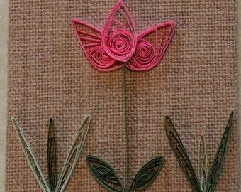Quilled Pink Tulip