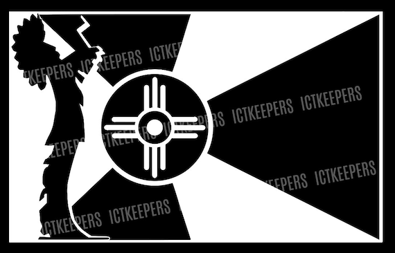 Decal Keeper Of The Plains And Wichita Ks City Flag Etsy