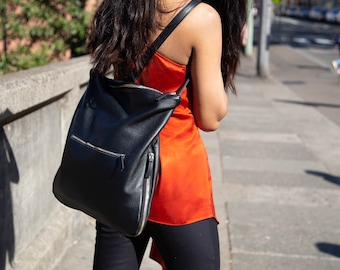 3 in 1 Leather Backpack & Tote