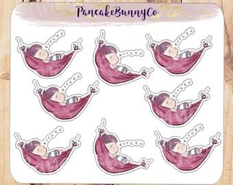 Sleeping planner stickers