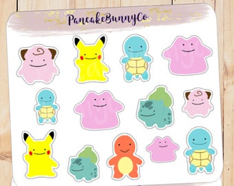 Pokemon Ditto themed stickers
