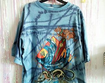 Original 90s Scooby Doo Tye Dye T Shirt - Japanese Cartoon Network - SLEEP4EVERCLUB