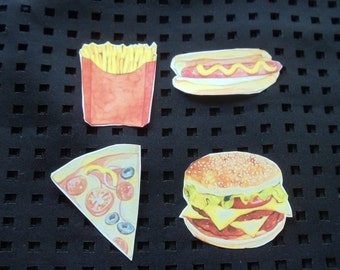 Pack of fast food stickers