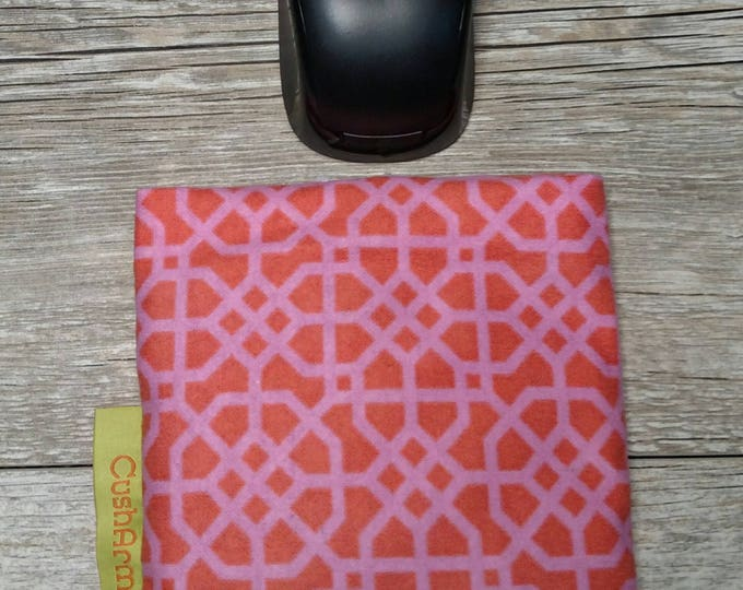 Pink Geometric  Computer Wrist rest, Natural organic comfort, stand up desk