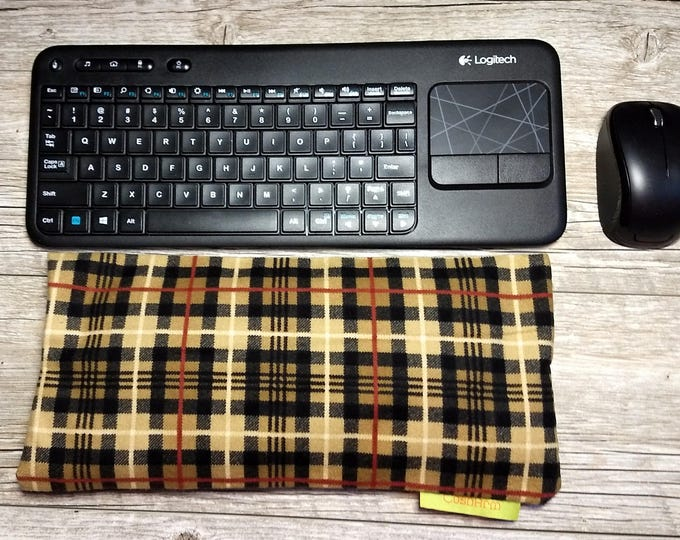 Flaxseed Plad Laptop Computer Arm, Wrist, Elbow Support, workspace comfort, alleviates wrist fatigue