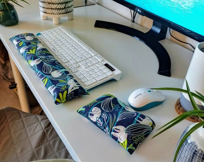 Sloth Comfy Keyboard and mouse computer wrist rest support