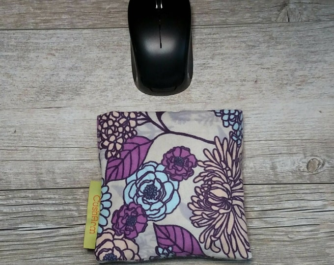 Purple Flower computer mouse CushArm Mini, perfect for a standing desk