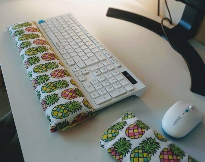Sunny Pineapple Soft and Comfy Keyboard and mouse computer wrist rest support- All Natural