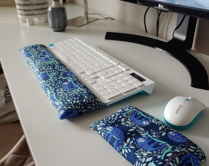 Stylish Sloth  comfortable Keyboard and mouse computer wrist rest support- All Natural