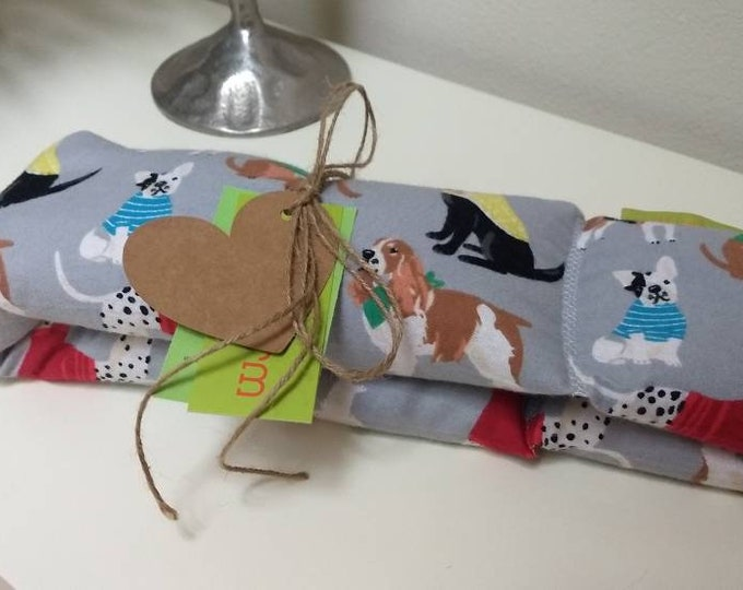 Puppy Spa Relaxation Neck and Body Wrap,  Flaxseed Filled, Natural Heat Pad, Natural Cold Pack, Heat or Freeze