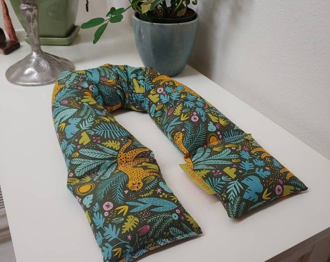 Jungle Green Leopard Garden Spa Relaxation Spa Relaxation Neck Wrap