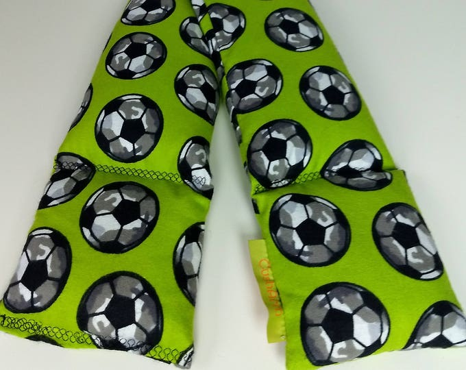 Soccer Sport Relaxation Neck and Body Wrap filled with Flaxseed Heat or Freeze
