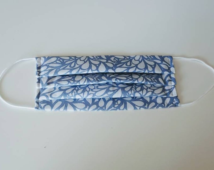 Floral Face Mask 100% Premium Cotton with filter pocket on reverse side