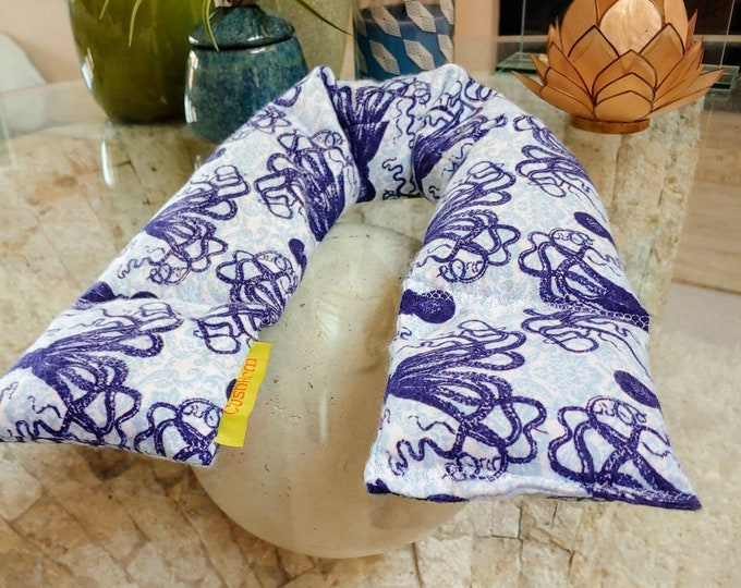 Octopus Spa Relaxation Neck and Body Wrap,  Flaxseed Filled, Natural Heat Pad, Natural Cold Pack, Heat or Freeze
