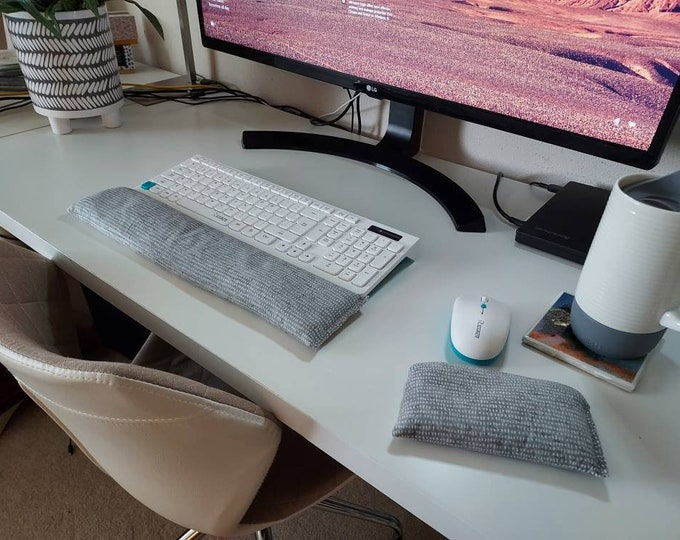 Modern Grey stylish and  comfortable Keyboard and mouse computer wrist rest support
