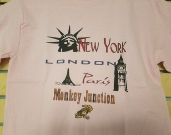 NY, London, Paris, Monkey Junction Tee Shirt