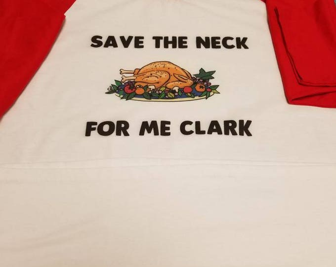Youth Save the Neck for Me Clark Xmas 3/4 sleeve Tee