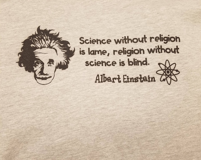 Einstein Science and Religion Tee