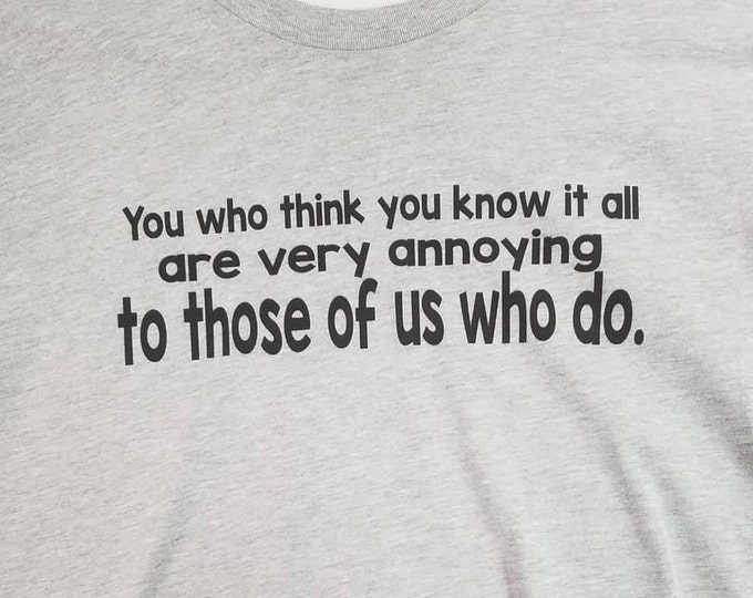Know it All Shirt