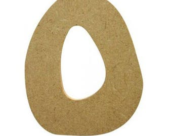 Small Letter O 7 cm - A wooden paint or decorate