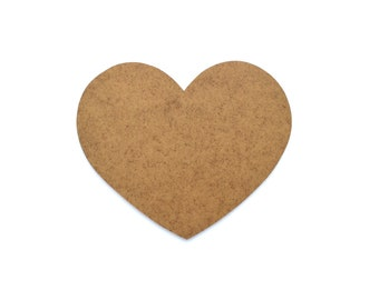 Heart wooden - paint or decorate