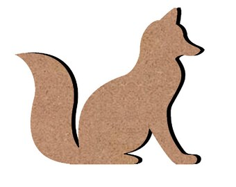 Little Fox wooden - paint or decorate