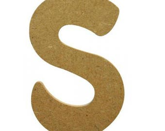 Small letter S 7 cm - A wooden paint or decorate