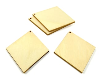 Supports pendants Argyle 4 wooden 65 mm - has paint or decorate