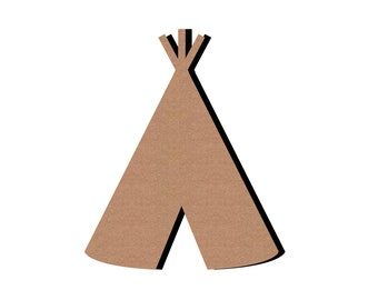 Teepee wooden - paint or decorate