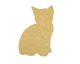Small cat wooden - paint or decorate