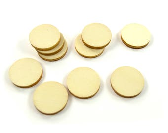 10 supports pendants round 20 mm - A wooden paint or decorate