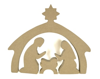 Nativity scene wooden - paint or decorate