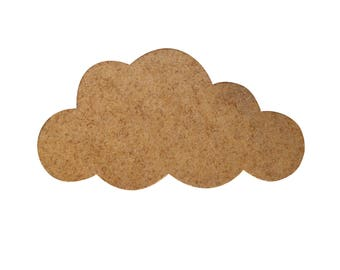 Large cloud wooden - paint or decorate