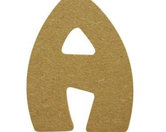 Small letter wooden 7 cm - to paint or decorate