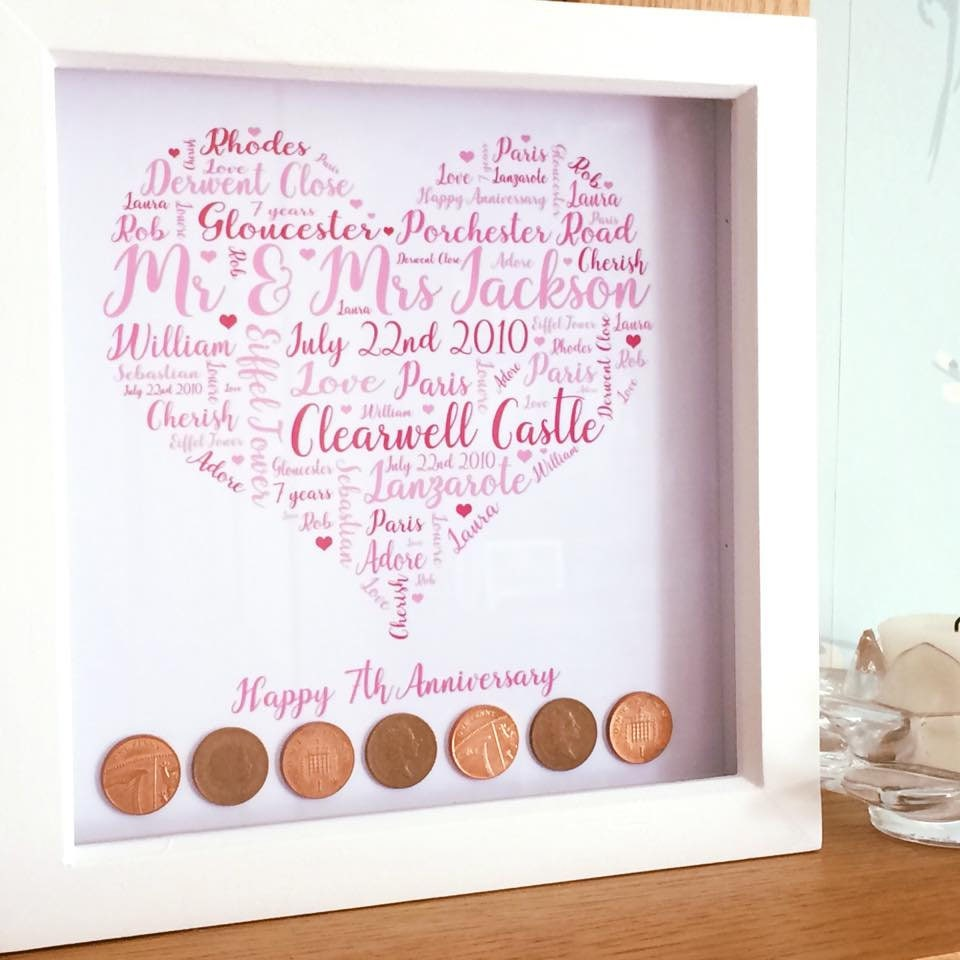 Australian Wedding Anniversary Gifts By Year: 7 Year Anniversary Copper Anniversary Wedding Anniversay