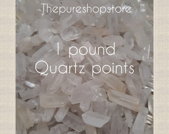 1/4Lb - 1lb wholesale Brazilian quartz points small to medium mix