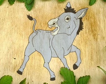 Silly Donkey 2 of 6 SVG File tshirt handdrawn design farm mule ass funny cute humour original cricut scan n cut silhouette horse butt