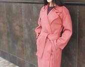 Trench coat Cape coat Wool coat Winter coat Buckle belt Red coat Oversized cardigan Shawl coat Coat women Kimono jacket Coat