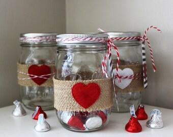 Valentine Mason Jar Etsy